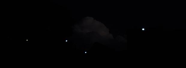 UFOs around the mountain S
